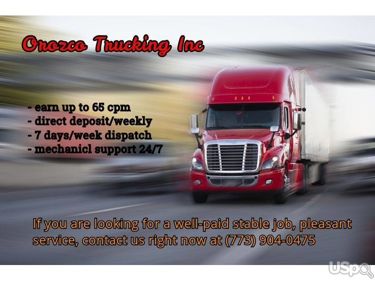 Company drivers wanted