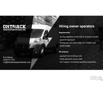 We are hiring Owner-operators