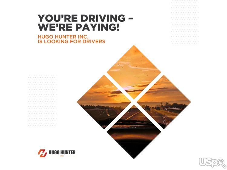 Вы водите – мы платим!   Hugo Hunter Inc ищет водителей
