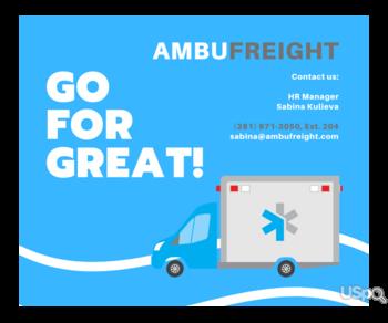 Ambufreight Inc приглашает к сотрудничеству водителей!