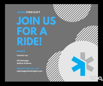Ambufreight Inc приглашает к сотрудничеству водителей