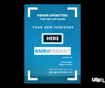 Американская компания Ambufreight Inc ищет водителей в Канаде!