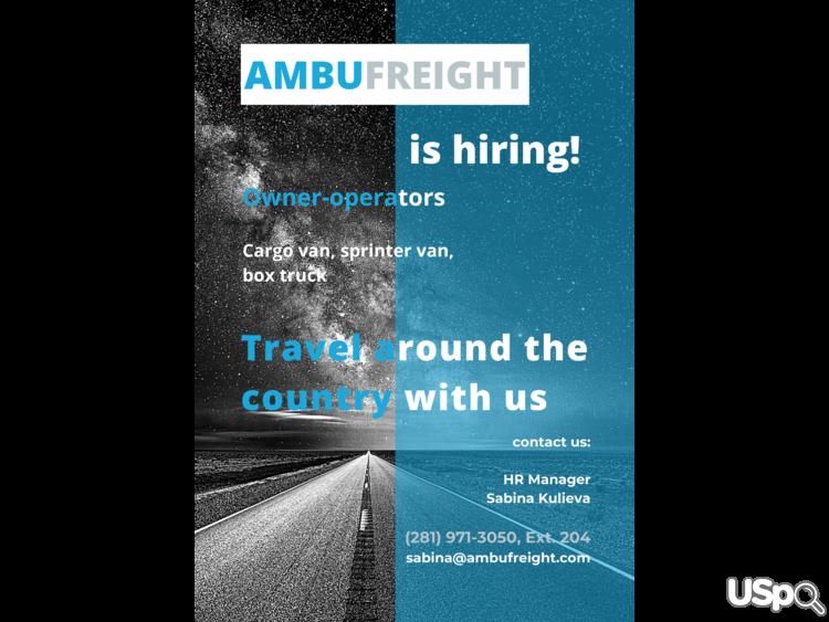 Американская компания Ambufreight Inc ищет водителей
