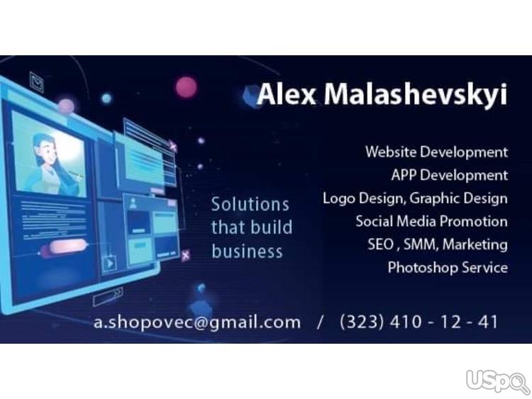 Website development.  App development.  Design.
