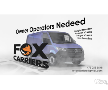 Owner Operators Needed