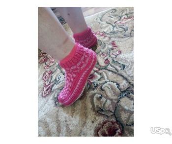 Свяжу носочки тапочки следочки для деток и взрослых на