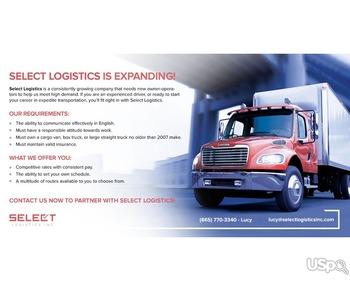 SELECT LOGISTICS INC приглашает к сотрудничеству Owner-operators
