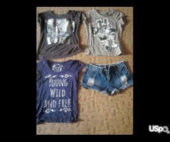 Shorts and three T-shirts