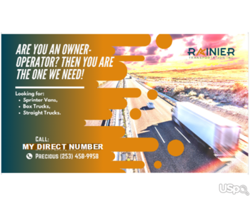 Rainier Transportation is hiring owner operators