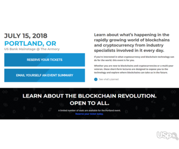 Contacts collecter on blockchain forum needed (US bank main stage, Portland)