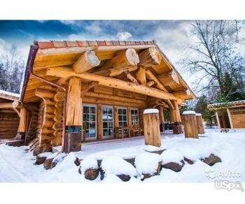 Construction of houses from Siberian log.     Строительство домов из сибирского сруба.