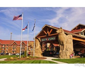 B гостиницах Great Wolf Resorts,Marriott,