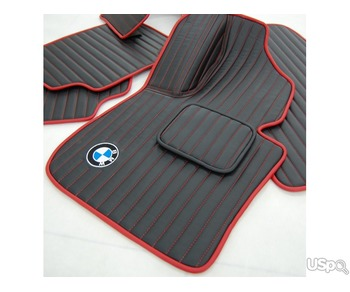 Set of 2D carpets Eco-leather for the car interior