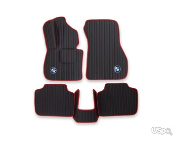 Set of 2D carpets Alcantara for the car interior